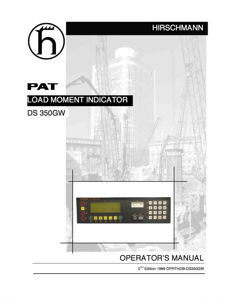 Pat Hirschmann Ds 350 Manuals Free Download Pat DS 150 Operator Manual Pat  Ds 350 Wiring Diagram